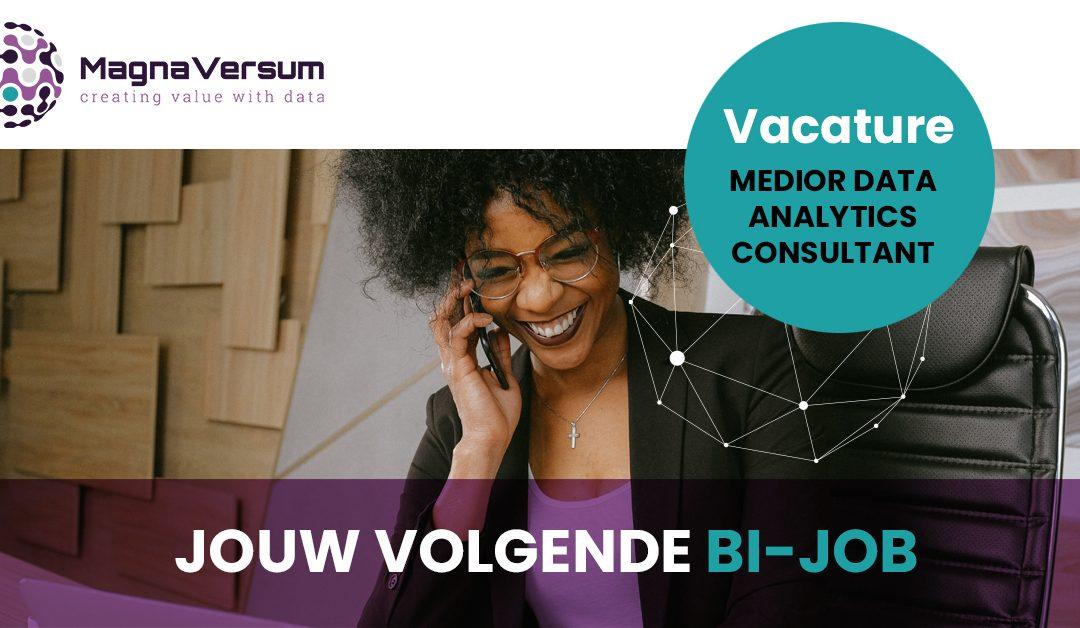 Vacature Medior Business intelligence | Data analytics consultant